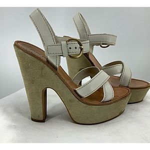 Miu Miu Chunky platform strapy heel sandals